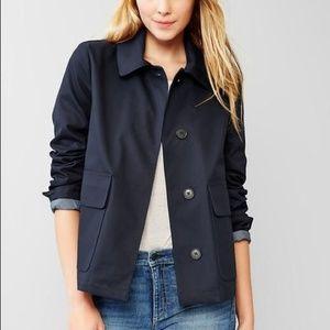 GAP Classic Navy Mac Short Rain Jacket Coat Medium